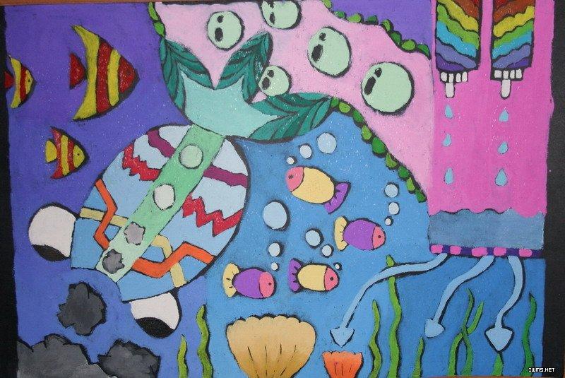 大海圖畫兒童畫