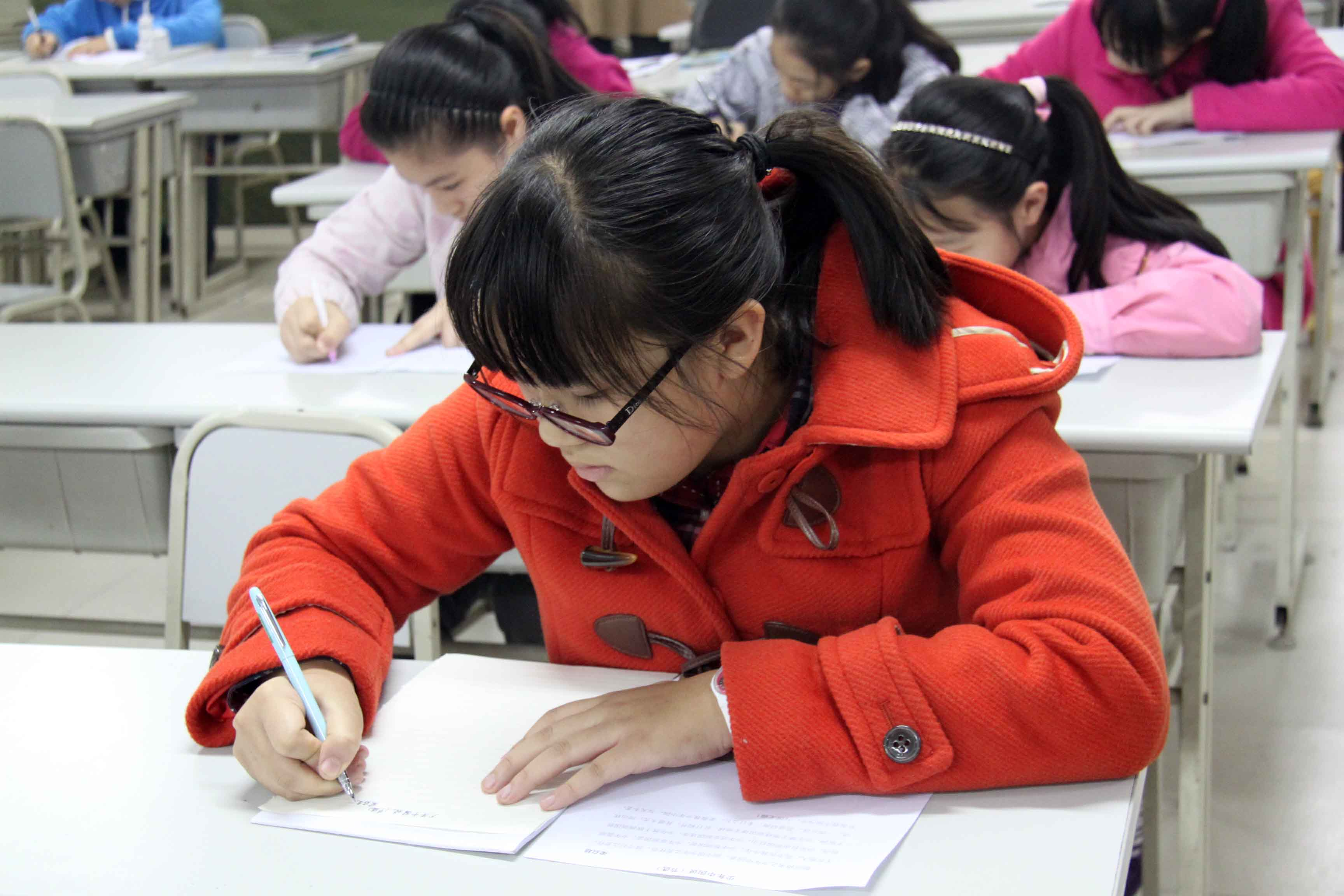 重庆一中皇冠校区学生书法比赛